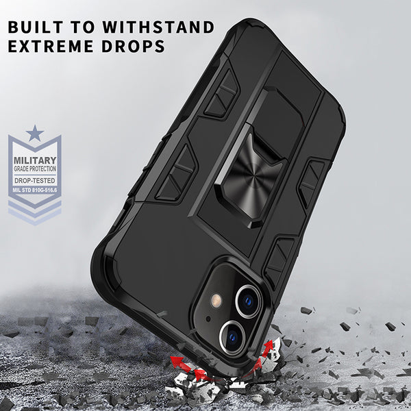 Military Grade Armor Protection Stand Magnetic Feature Case for iPhone