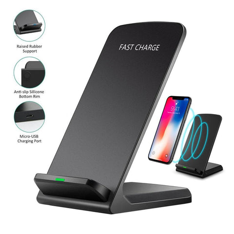 10W Q740 Wireless Folding Vertical Quick Charger USB Fast Charging