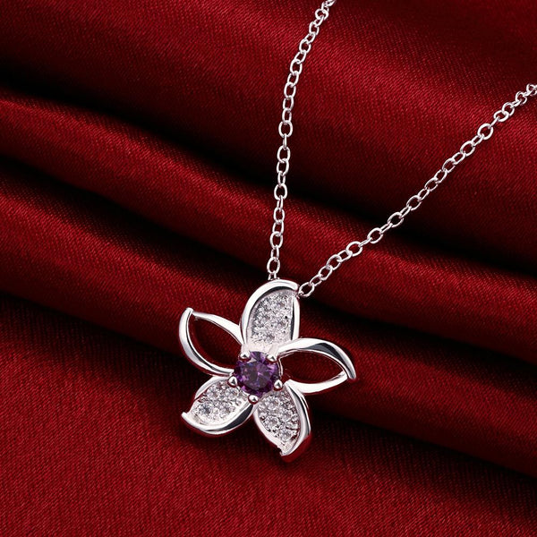 Carpentras Necklace in 18K White Gold Plated made with Swarovski