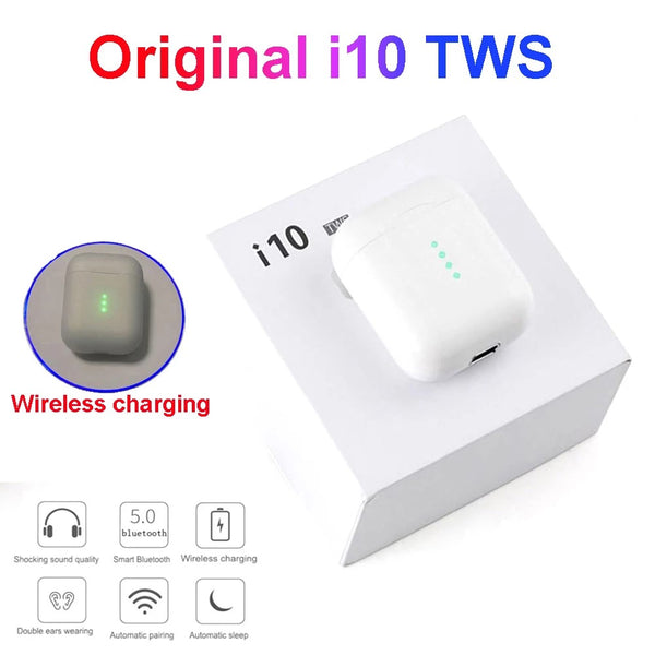 Wireless charging Bluetooth i10 TWS for Iphone12 Huawei Xiaomi