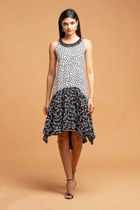 Claire Dress - Black & White Floral