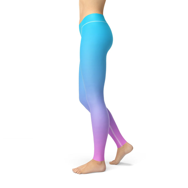 Avery Blue Pink Ombre Leggings