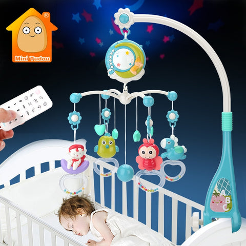 Baby Toys 0-12 Months For Baby Newborn Crib Bed Bell Toddler Rattles Carousel For Cots Kids Musical Toy