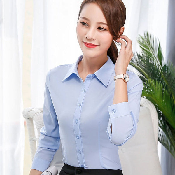 Women Cotton Shirts Woman White Shirt Women Long Sleeve Shirts Tops Office Lady Pink Shirt Blouse Plus Size Woman Basic Blouses