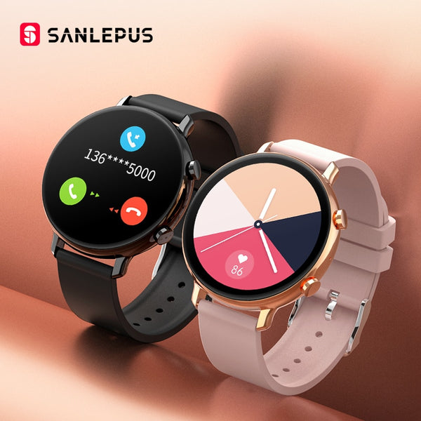SANLEPUS Smart Watch Bluetooth Call Waterproof Smartwatch Heart Rate Monitor For Android iOS For Men Women
