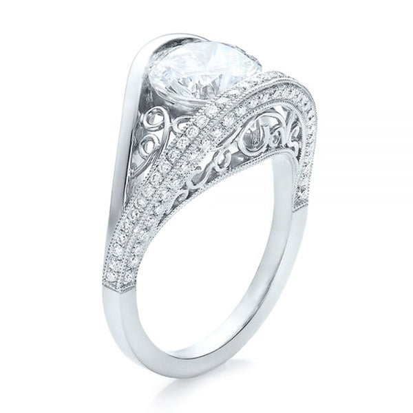 Wedding Ring for Women Big Round Cut Cubic Zirconia Beautiful
