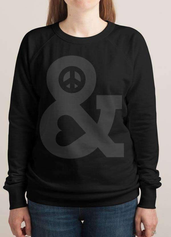 PEACE AND LOVE WOMEN SWEAT SHIRT