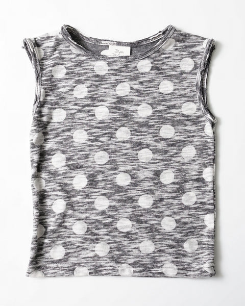 Grey Tank Top with Dotted Pattern