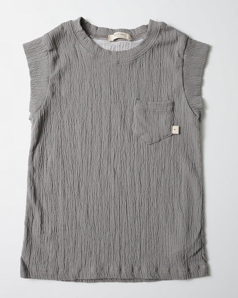 Grey Elastic Pocket Tank Top