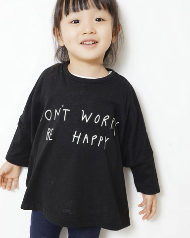 "Black ""Don't worry be Happy"" Tee"