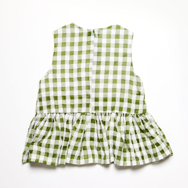 Fresh Green Check Peplum
