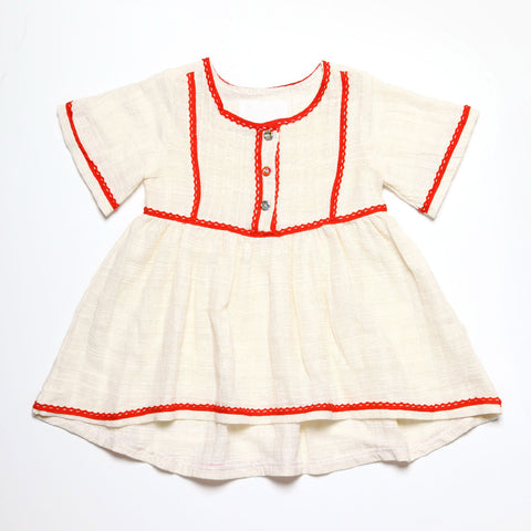 Dress with Red Trim