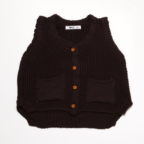 Brown Knitted Vest