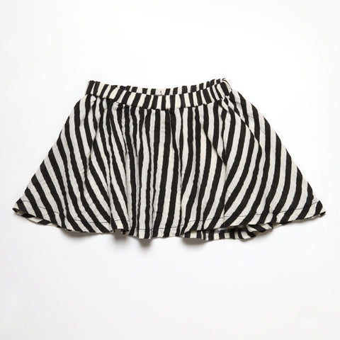 Black Stripes Full Skirt