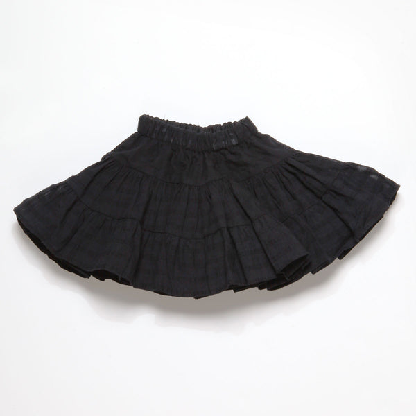 Double Layers Black Round Skirt