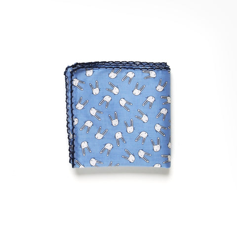 Blue Little Rabbit Handkerchief