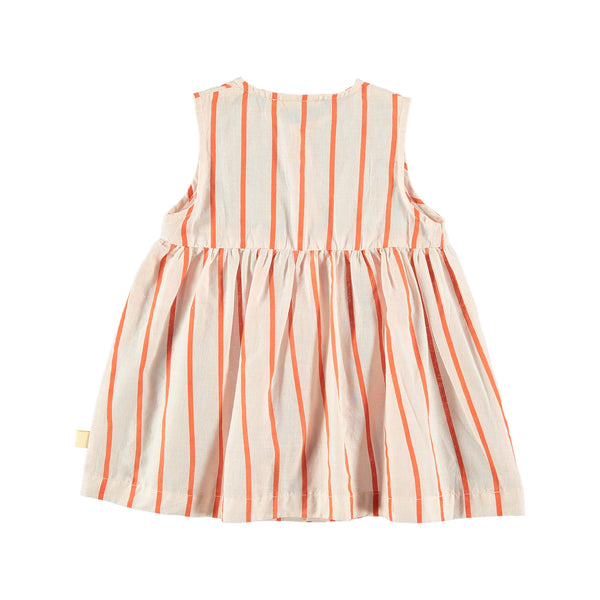red stripes dress