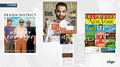Carbone Fine Foods Pres Page featuring Design District, Aficionado, and the New York Fall Preview