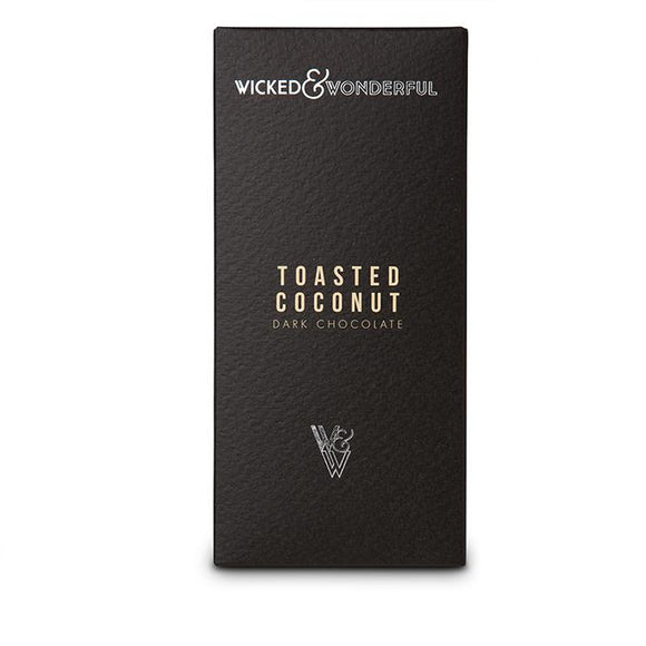 Toasted Coconut dark chocolate bar (Vegan)