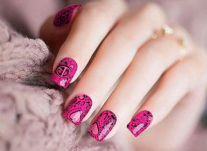 Love and Peace Nail Wraps - Crownem