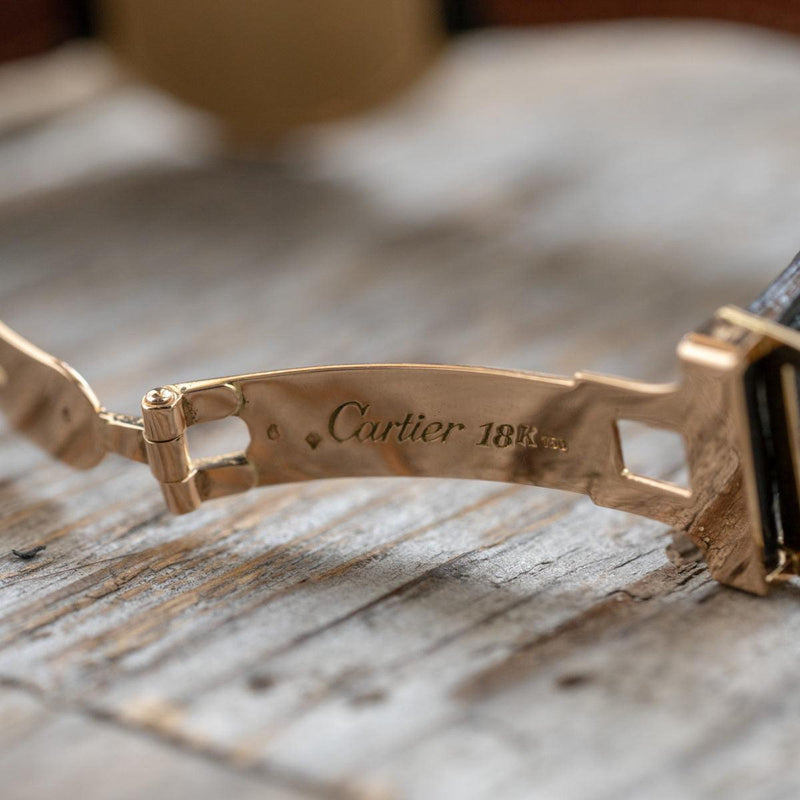 "CARTIER Ellipse LM ""PARIS"" 18K YG"