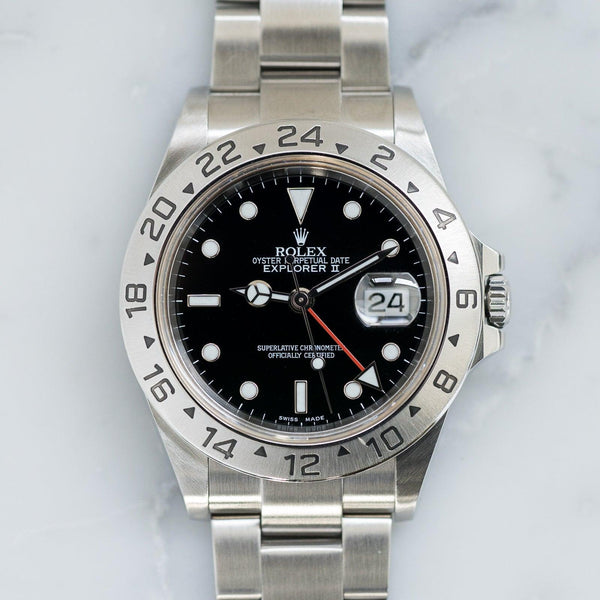 ROLEX Explorer II 16570 Black