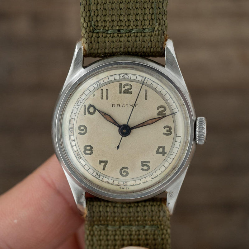 RACINE (GALLET) Military-Style Round 1940s