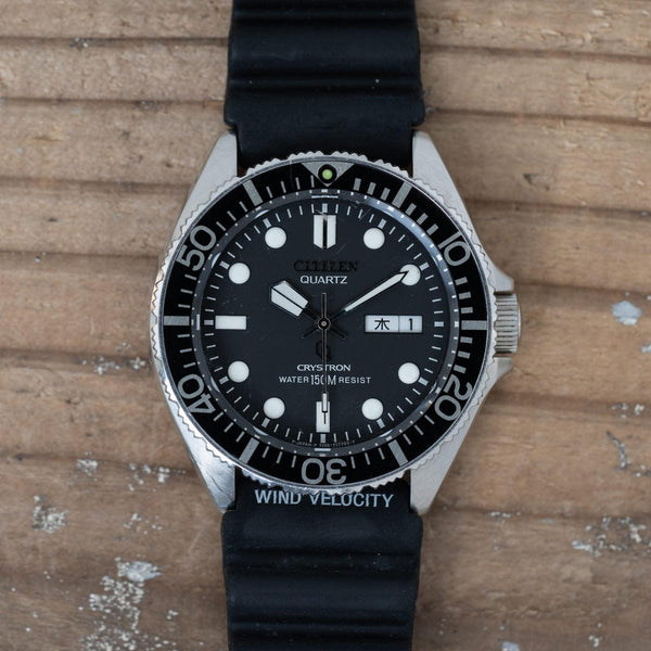 CITIZEN Crystron 150m Diver QZ 1980s