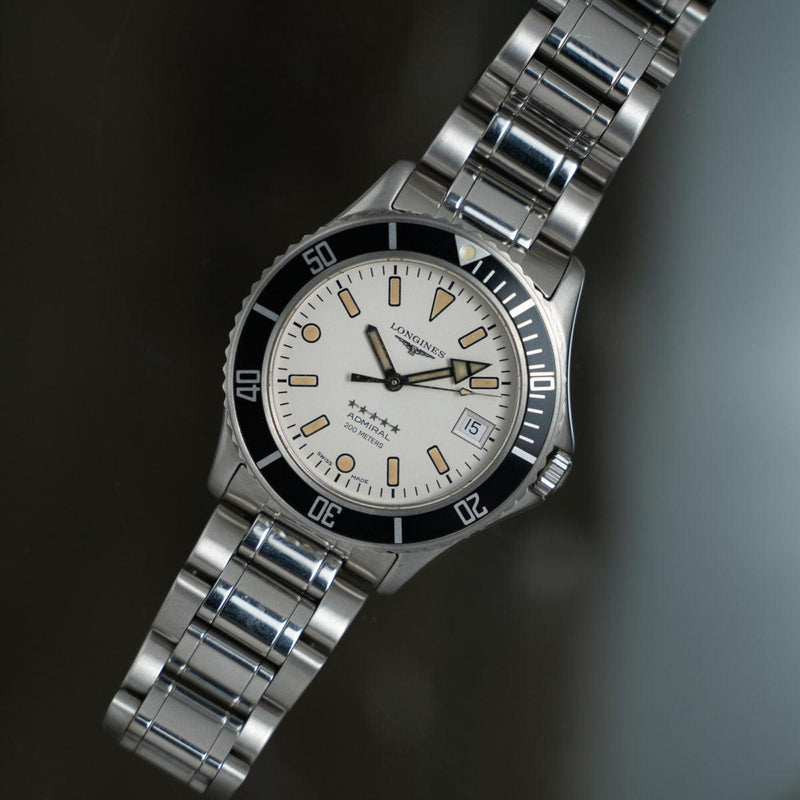 LONGINES Admiral Diver L3.502.4 White Dial 1990s