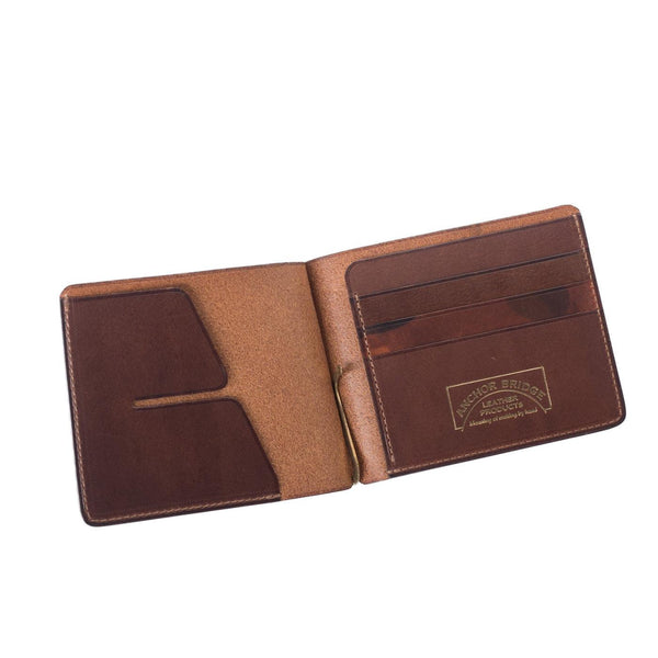 Camouflage Leather Money Clip (Brown)