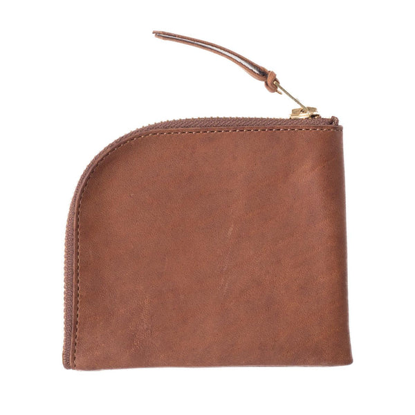 Zip Wallet (Horween Horse Leather) Beige