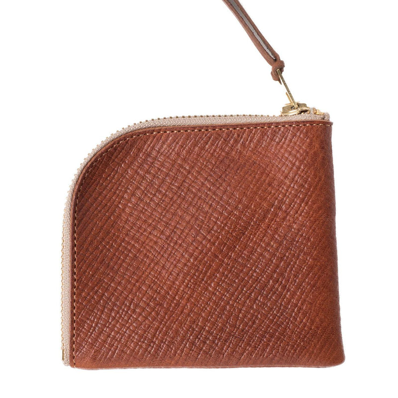 Zip Wallet Embossed Leather Limited Edition (Brown)