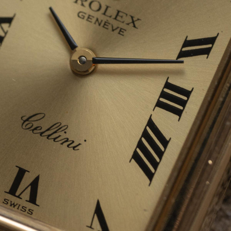 ROLEX Cellini 4103 Rectangle YG 1970s
