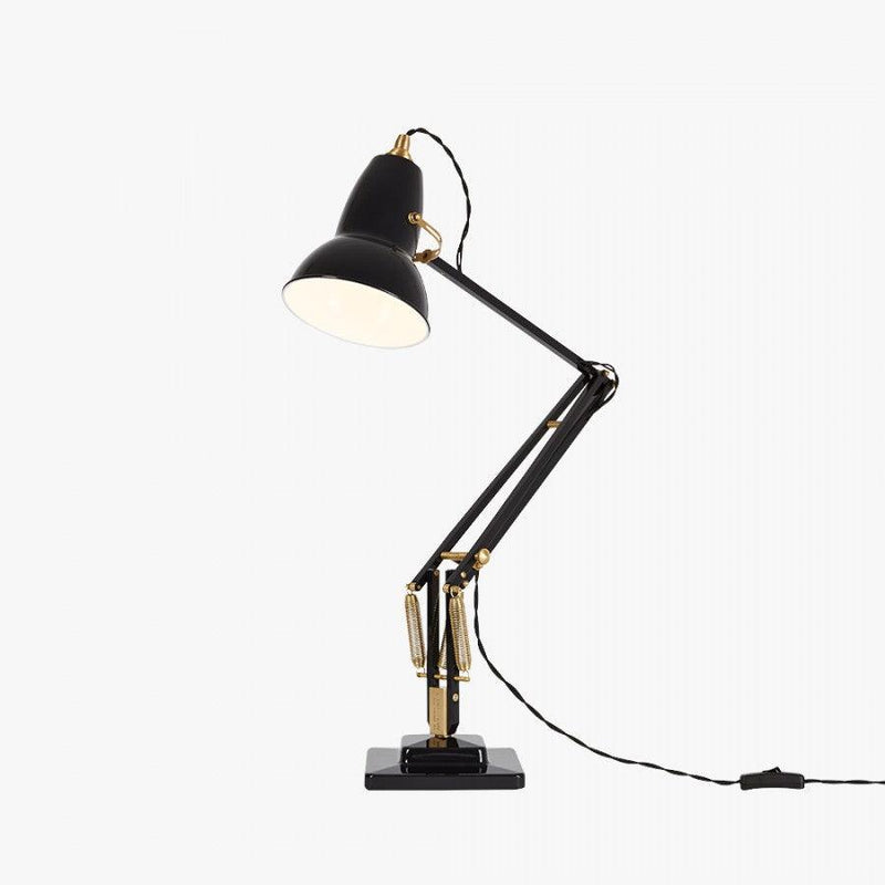 Anglepoise 1227 Brass Desk Lamp Deep Slate - アングルポイズ 黒色