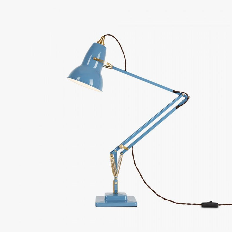 Anglepoise 1227 Brass Desk Lamp Dusty Blue - アングルポイズ ブルー