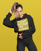 Don't Worry Be Happy Crop Hoodie