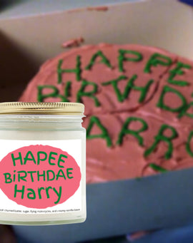 Harry Potter Candle Happy Birthday Candle Hagrid Happee Birthdae Harry