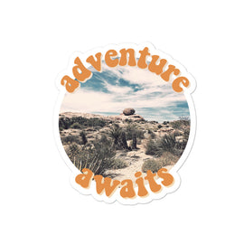 Adventure Awaits Bubble-free sticker