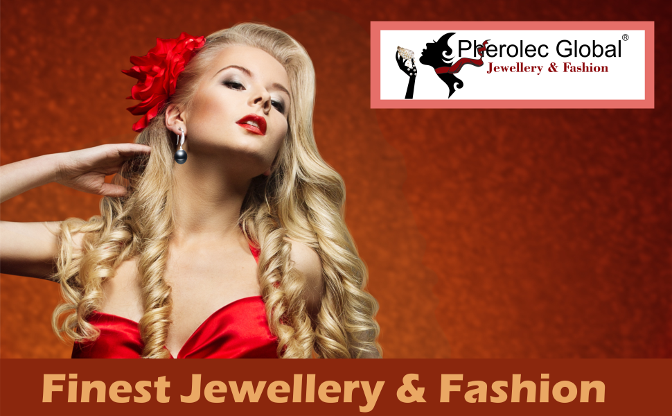 pherolec global earings and necklase