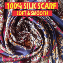 Load image into Gallery viewer, 100% Silk Satin Scarf for Women 90 x 90cm