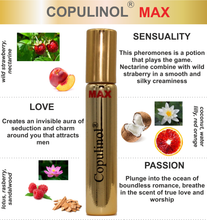 Load image into Gallery viewer, Copulinol MAX pheromone for women wild strawberry nectarine lotus rasberry romance passion flirt