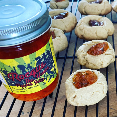 Cornmeal Cup Cookies with Pepper Jelly