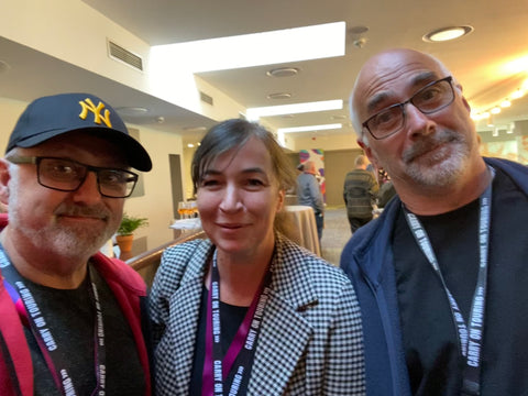 Simone Dudt, General Secretary of European Music Council, Ian Smith and Tim Brennanafter the session and had an excellent chat about the Carry on Touring campaign