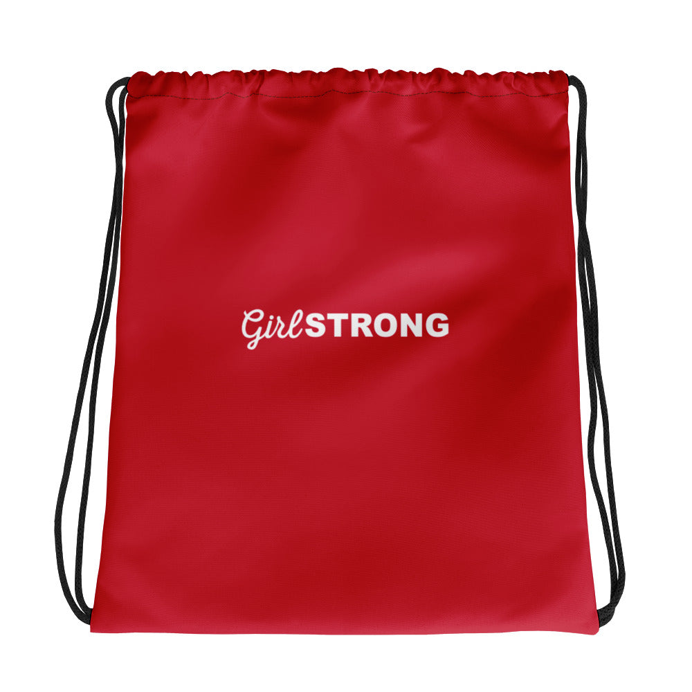 THE ESSENTIAL DRAWSTRING GYM SACK CHERRY RED