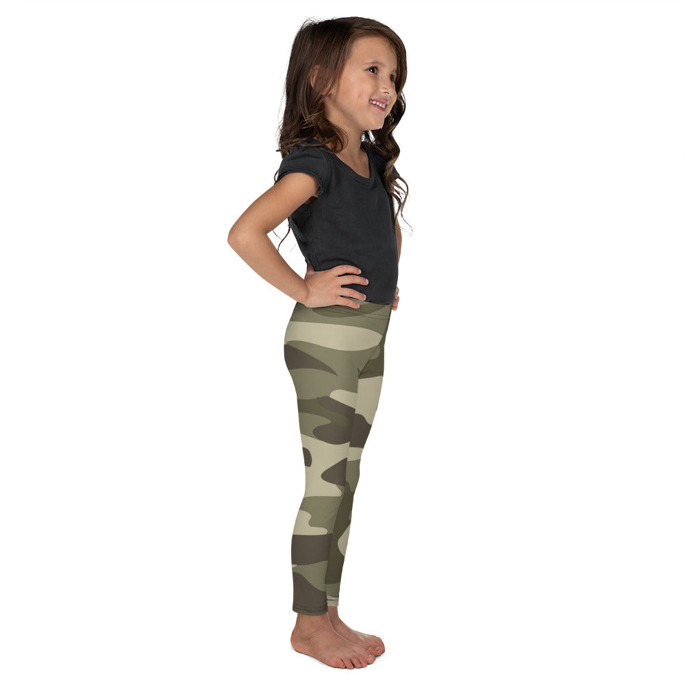 ELEVATED ESSENTIALS, THE PERFECT KID'S LEGGING GREEN CAMO