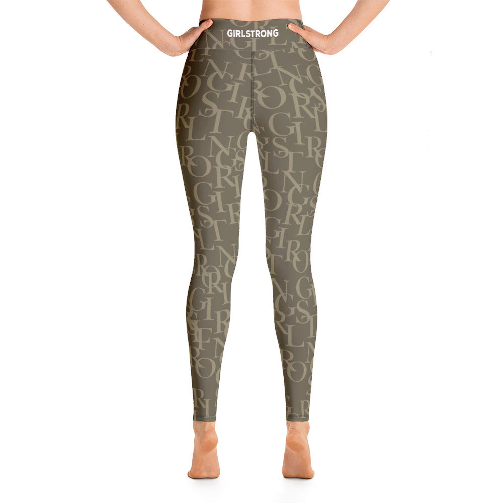 ELEVATED ESSENTIALS, THE PERFECT HIGH WAISTBAND LEGGING ARMY GREEN GIRLSTRONG