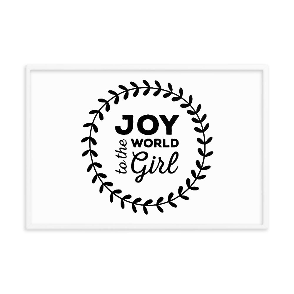 FRAMED PHOTO PAPER POSTER - JOY TO THE WORLD GIRL
