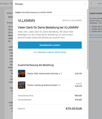 Shopify Order Confirmation in Deutsch