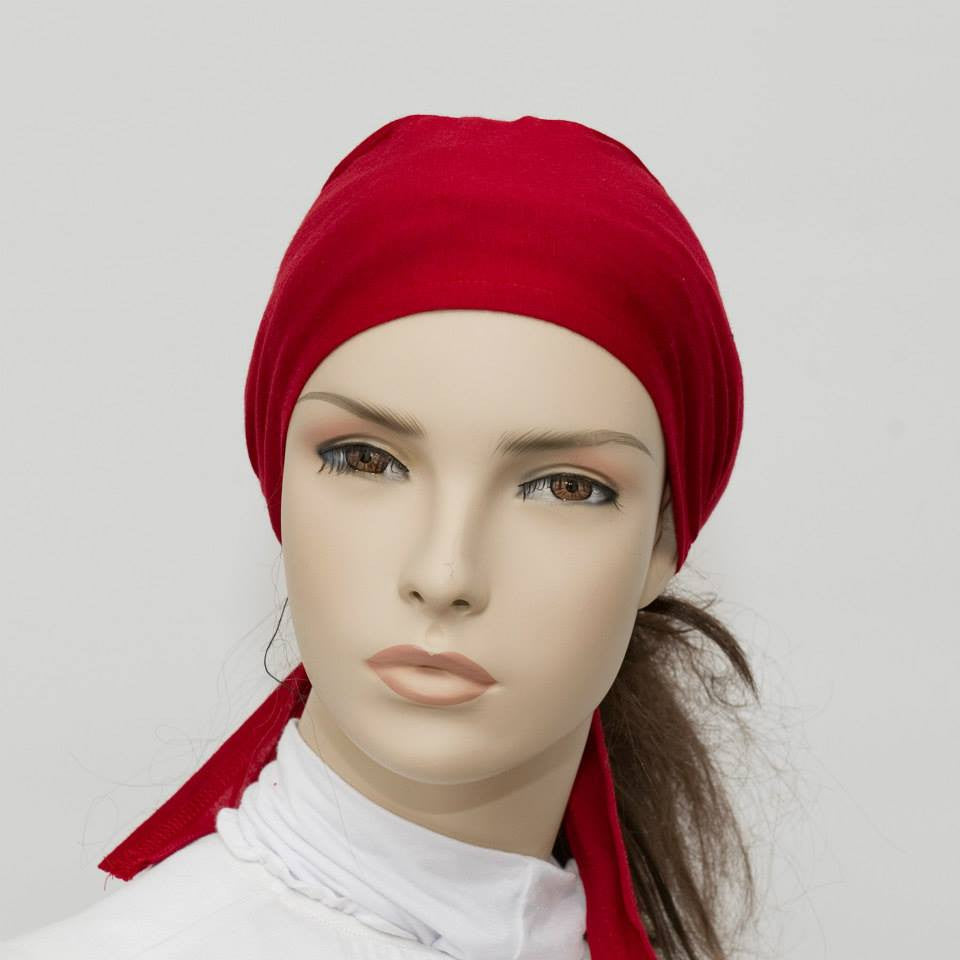 Burgundy Red Breathable String Underscarf