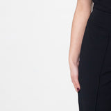 Black Peg Leg Trousers